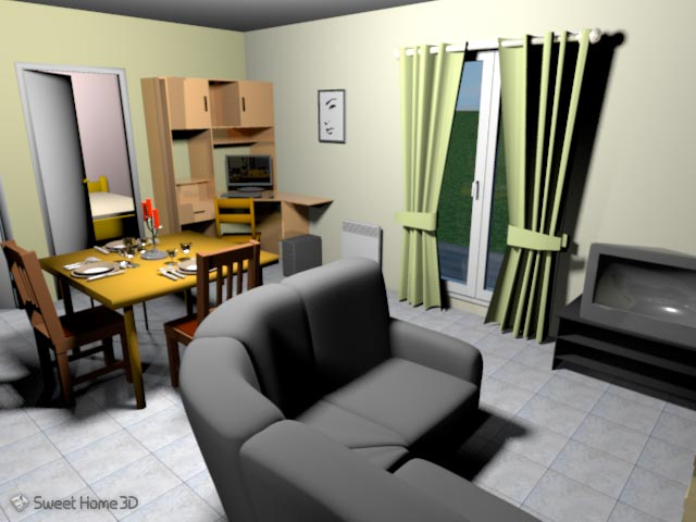 download sweet home 3d decorate your home using windows mac or linux. Black Bedroom Furniture Sets. Home Design Ideas